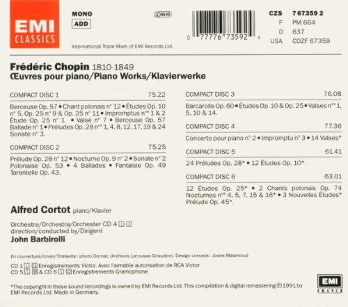 مجموعه آثار پیانو شوپن با اجرای آلفرد کورتات (Alfred Cortot)