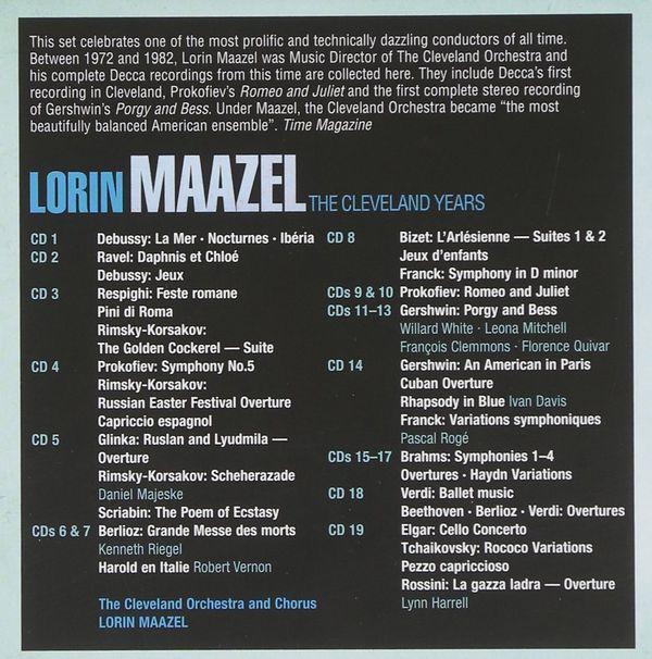 لورین مازل –  سالهای کلیولند مجموعه ضبط های کامل (Lorin Maazel)