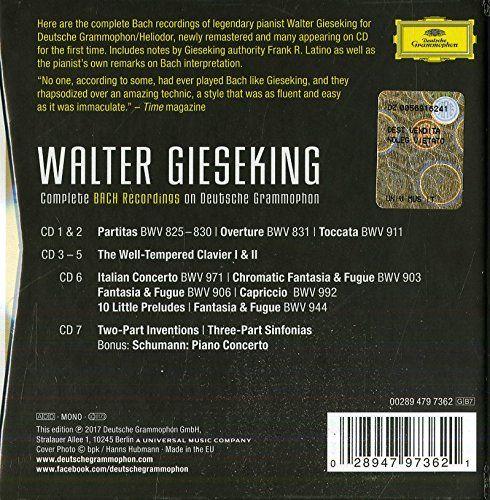 والتر گیسکینگ – ضبط های کامل باخ در دویچه گرامافون (Walter Gieseking)