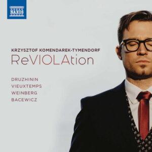 آلبوم موسیقی Druzhinin, Weinberg, Vieuxtemps & Bacewicz Viola Works اثری از کریستوف کمندارک-تیمندورف